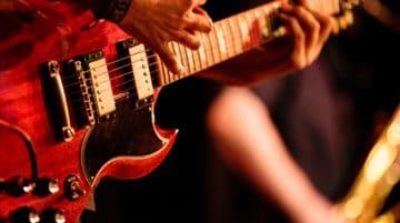 Photo guitariste concert