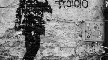 Photo mur street art homme composition