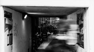 Photo de rue cycliste Amsterdam