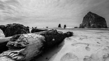 Photo Cannon Beach noir et blanc