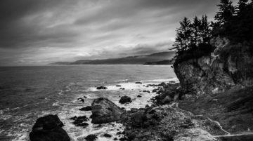 Patrick's Point State Park, Oregon, USA noir et blanc