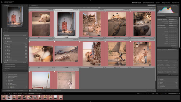 Interface de Lightroom Classic CC, logiciel de retouche photo