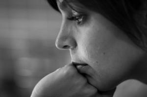 portrait profil femme noir et blanc Federico Coppola