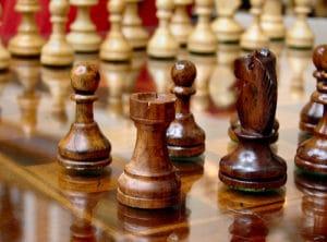 Photo jeu d'échec en bois