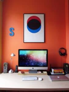 bureau imac macbook pro