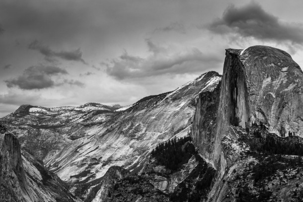 90mm Yosemite National Park, USA photo de paysage noir et blanc