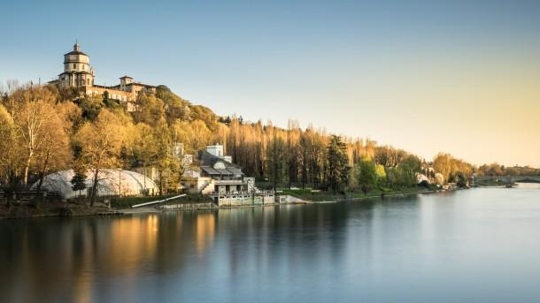 ombres Turin, en Italie photo de paysage ville fleuve Pô lumière