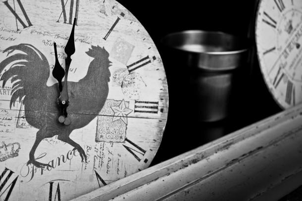 coq horloge heure