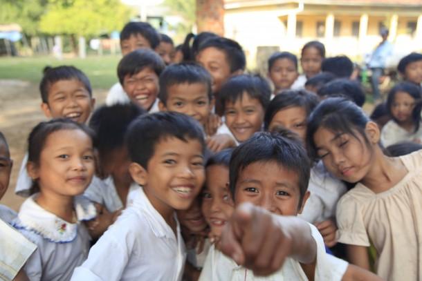 Cambodge photo de voyage enfants village