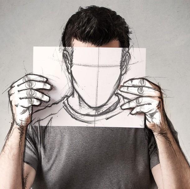 Sébastien Del Grosso dessinateur photographe photo homme feuille portrait