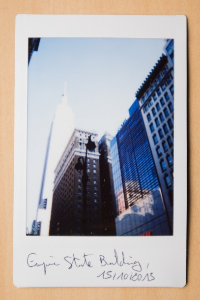 Empire State Building photo instantanée Fuji Instax Mini 90 viseur
