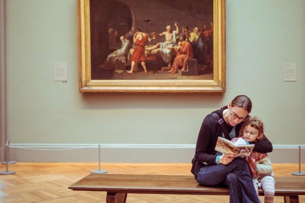 Photo tableau musée mère enfant fille