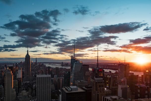 Couher soleil sur Manhattan