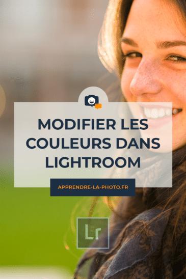 Modifier les couleurs dans Lightroom