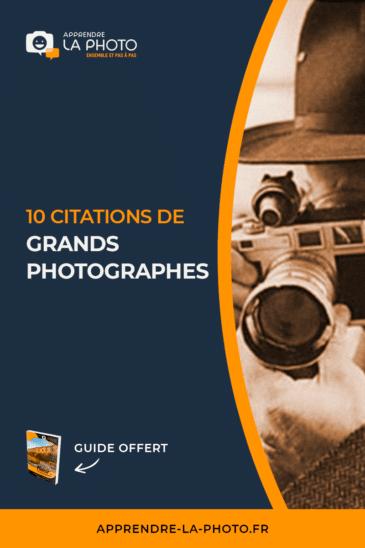 10 citations de grands photographes