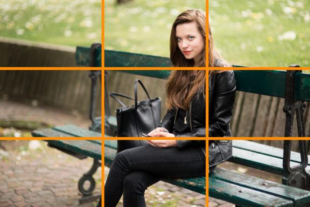 photo portrait règle des tiers composition