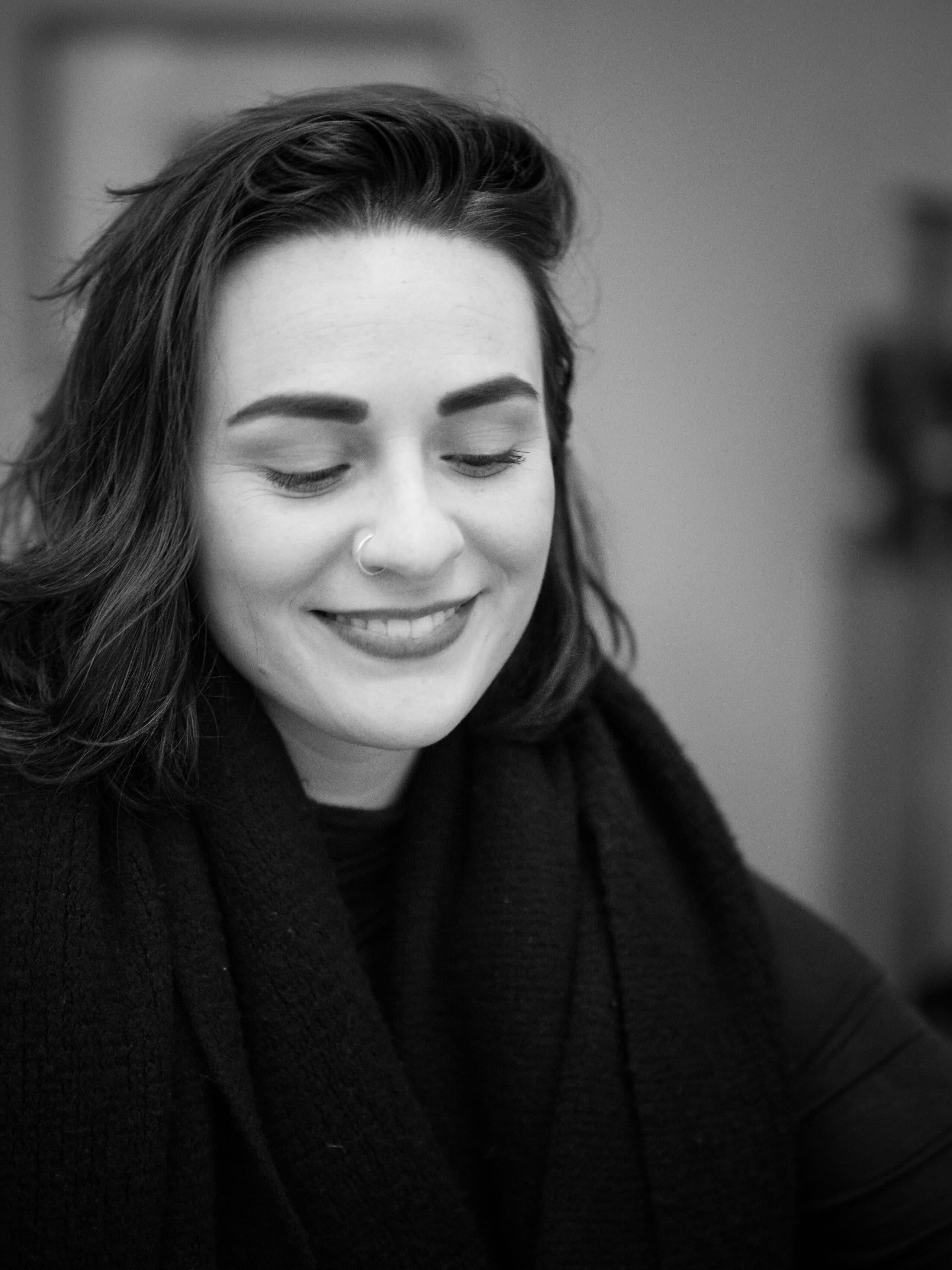 Photo portrait noir et blanc