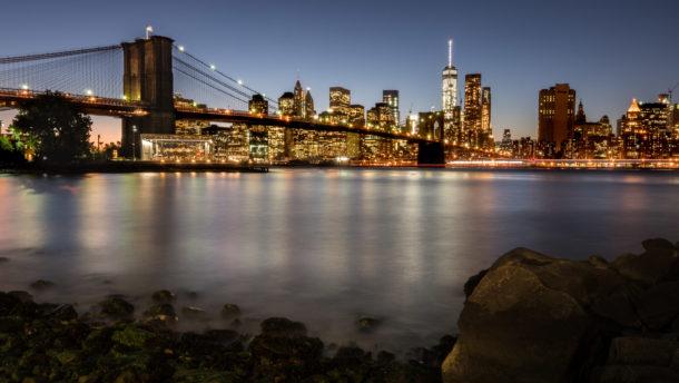 photo de nuit paysage urbain