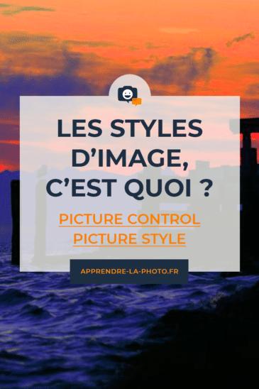 Les styles d'image, c'est quoi? (Picture Control, Picture Style, etc.)