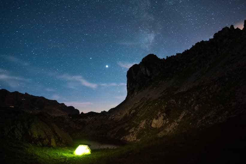 Bivouac en montagne photo Clément Belleudy