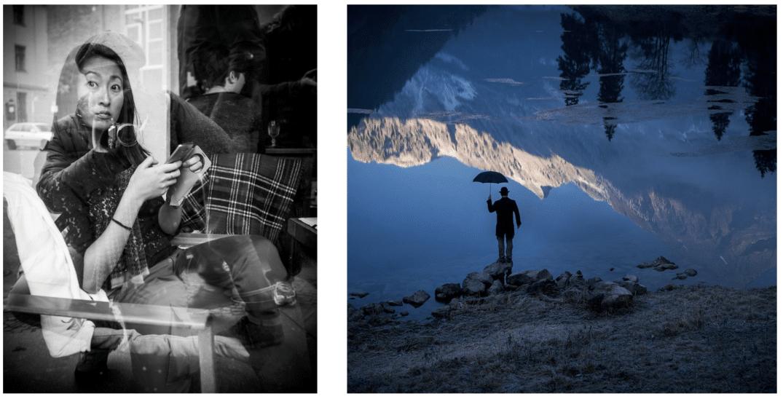 Exemple d'images avec des reflets