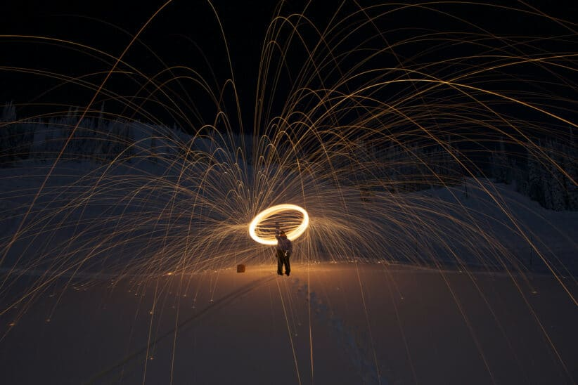 Light painting source multidirectionnelle et personne