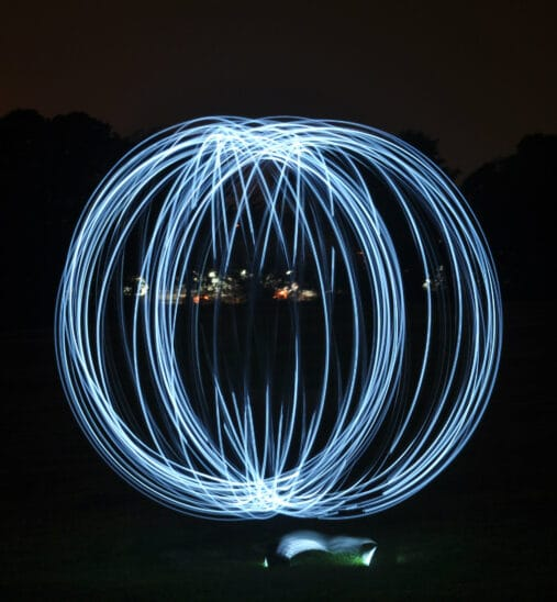 Light painting source mobile
