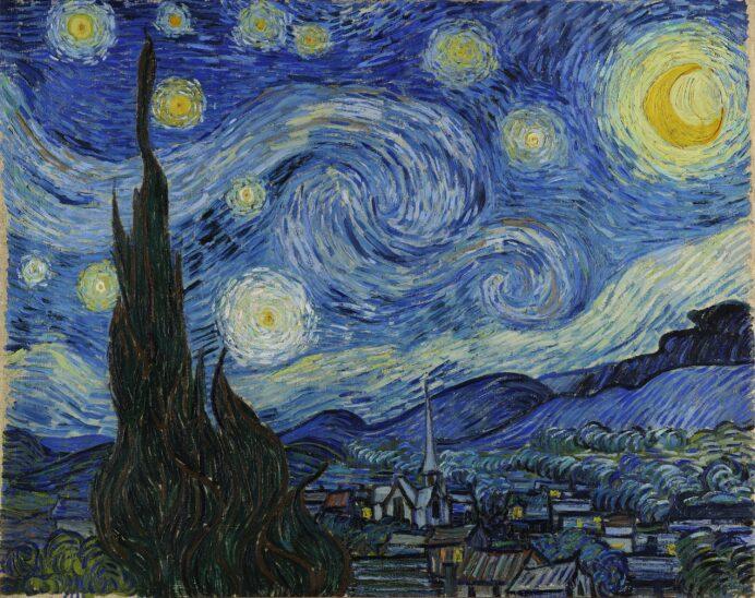Tableau La Nuit Étoilée, Vincent Van Gogh