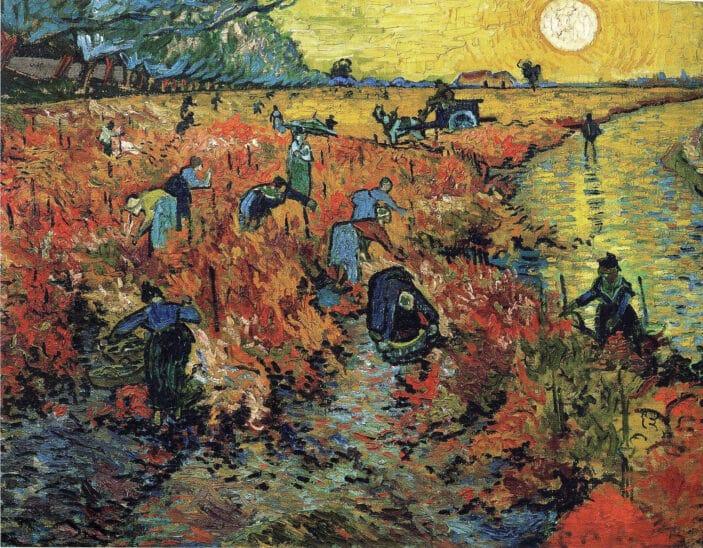 Tableau La Vigne rouge, Vincent Van Gogh